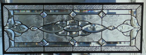 Stained Glass Transom window hanging  31 1/2 X 12 1/2