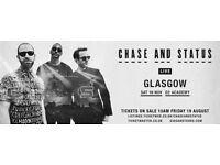 £20 - Chase & Status @ O2 Academy Glasgow 19/11/16