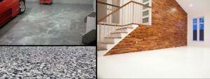 Garage Floors, Basements, Kitchens and Bathrooms, Show Rooms