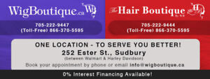 Wig refurbishing, cutting & alterations at Wig Boutique