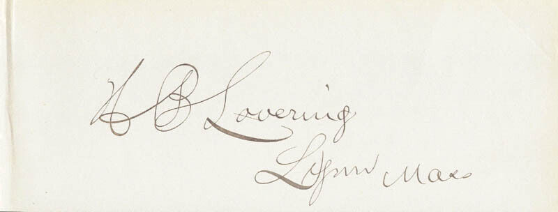 HENRY B. LOVERING - SIGNATURE(S)