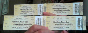 4 TiCat Game Tickets for tonights Game at Tim Hortons field