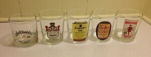 Collection Drinking Glasses Whiskey Vodka Beefeater Bar