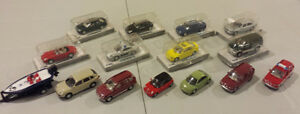 Lot of 15 - 1:72 Diecast Cars, SUVs, Boat/Trailer, Police & Fire