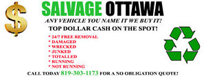 MIN CARS $200+, SUV/VANS $250+, TRUCKS $300+ FOR SCRAP VEHICLES