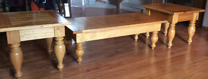 Beautiful solid oak coffee and endtables