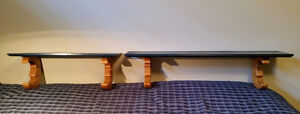 Ens de 2 Etageres artisanale - handcrafted moon shelves set of