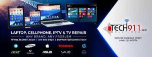 Réparation ordinateur, PC, MAC, repair, écran brisé, cellulaire