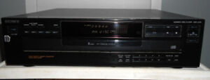 SONY Lecteur CD, CDP-C245, 5 disques Rotary CD player  TESTED