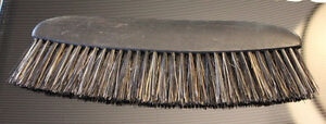 Antique French Wooden Hair Horse Clothing Brush  7 X 2.25