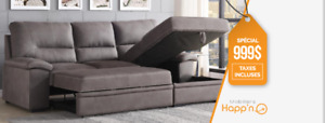 Sofa sectionel lit