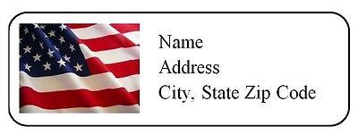 30 Personalized Return Address Labels Us Flag Buy 3 Get 1 Free Us3