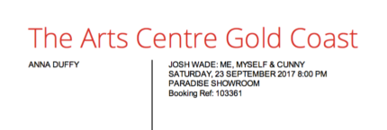 TICKETS : Josh Wade - Me, Myself and Cunny Show