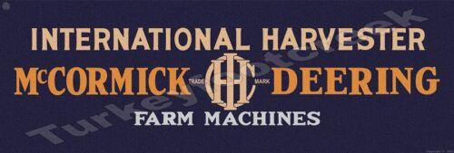 "IH MCCORMICK DEERING FARM MACHINES  6"" x 18"" METAL Sign"