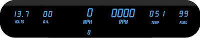 Intellitronix 6 Gauge Digital Dash Panel Blue LEDs W/ Tach! UNIVERSAL Kit USA!