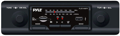 In-Dash Old Style 2 Shafted Car Audio AM/FM Stereo Radio with USB SD MP3 Player on Rummage