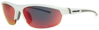 Rawlings Boy's Youth 1901 Athletic Sunglasses Half-Rim White/Red Mirror (Red Rimmed Sunglasses)