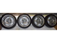 BMW 17'' Genuine M Sport Style 68 ALLOY WHEELS & TYRES Staggered 3 Series Z3 Z4