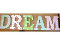 DREAM letters for Wall hanging by Next