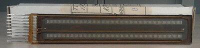 In-33 Dual Linear Plasma Bargraph Panel Rare Nos Nib Nixie