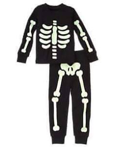 Gymboree glow in the dark skeleton pjs