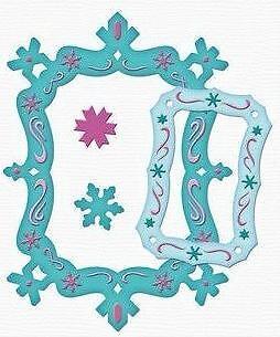 Spellbinders Frameabilities Snowflake Frame 4 Dies S5-017 Cut Emboss Stencil