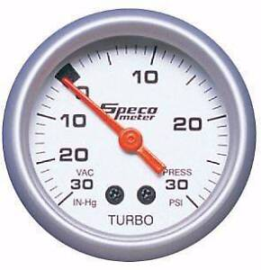 "SPECO METER SPORT SERIES 2"" 30 HG TO 30 PSI BOOST/VACUUM GAUGE Chisholm Tuggeranong Preview"