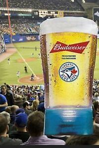 TORONTO BLUE JAYS HOMERUN BUDWEISER GLASSES with Batteries