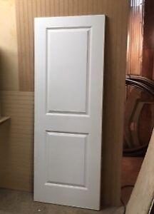 2 Panel Solid Core Wood Door