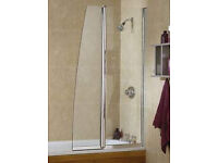 Daryl - Twin Panel Bathscreen - Left Hand (Brand New)