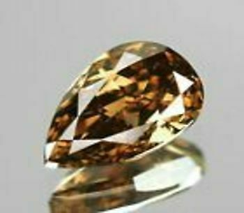 0.70 Cts NATURAL VS2 GIA CERTIFIED FANCY BROWNISH ORANGE COLOR LOOSE DIAMOND