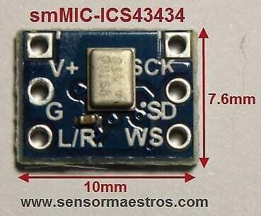 ICS43434 I2S Digital Microphone Ultra Small Breakout Board