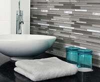 $12.49/SF BACKSPLASH GLASS AND ALUMINUM BLEND MOSAIC TILE!