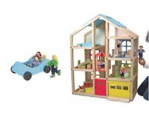 Dolls House with Furniture, People, Car and Pets Sellicks Beach Morphett Vale Area Preview