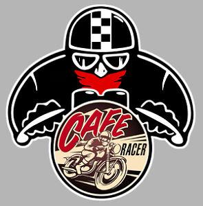 cafe racer moto bmw biker 80mmx75mm autocollant sticker moto ma094 ebay. Black Bedroom Furniture Sets. Home Design Ideas