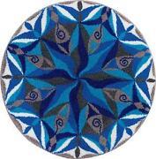 Teppich Rund Blau