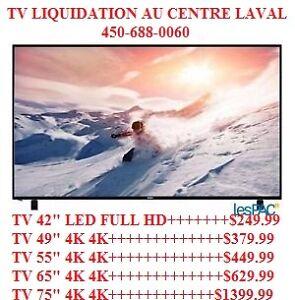 CENTRE DE LIQUIDATION AU CENTRE LAVAL TV SAMSUNG ,LG,4K,SMART,24