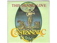 "Castanarc - This Island Love 7"" Single Vinyl Record. BRAND NEW-VERY RARE"