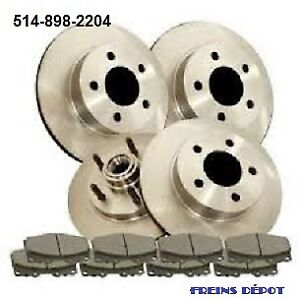 PAD AVANT ARRIERE FREIN BRAKE PLAQUETTE DISK PADS ROTOR DISQUE
