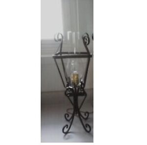 Vintage Wrought Iron Table Lamp / Wall Sconce