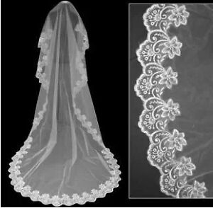 Brand new lace Cathedral wedding veil