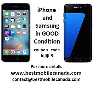 Samsung and iPhone warranty in very good condition Sarnia
