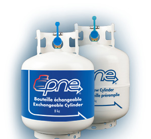 PNE exchangeable propane cylinder