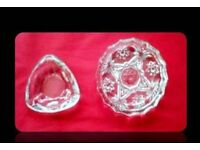 CLEAR GLASS ASHTRAYS - (2) - FOR SALE