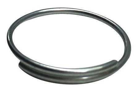 Zoro Select 25Du55 Key Ring, Split Ring Type, 3/4 In Ring Size, Silver