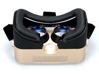 Gold Virtual reality headset