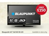 "Blaupunkt 42"" Full HD 3D LED TV with four pairs of 3D glasses"