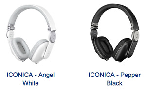 RCF SUPRA-AURAL ICONICA HEADPHONES PEPPER BLACK OR ANGEL WHITE