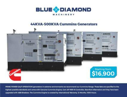 44KVA - 550KVA Cummins - Large Diesel Generators - 1500 RPM