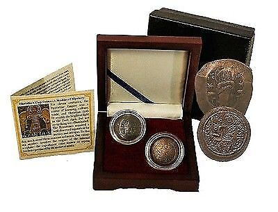 Christian Cup Coins: A Medieval Coin Mystery - 2 Coin Byzantine Collection